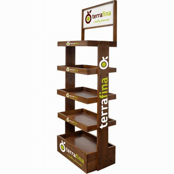 Food Wooden Display Stand