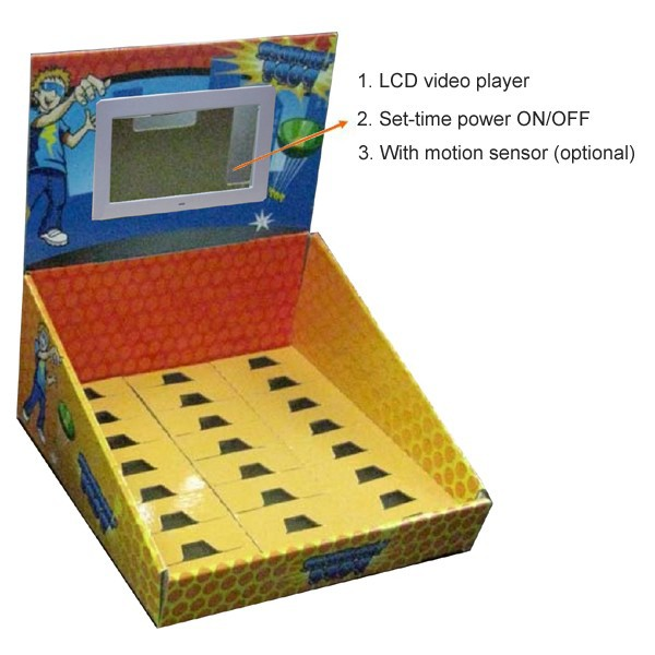 lcd table top display carton