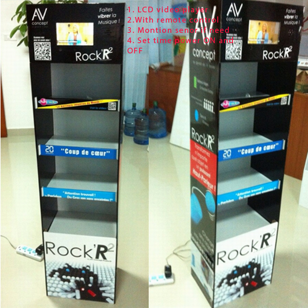 Cardboard lcd  display rack portable book display