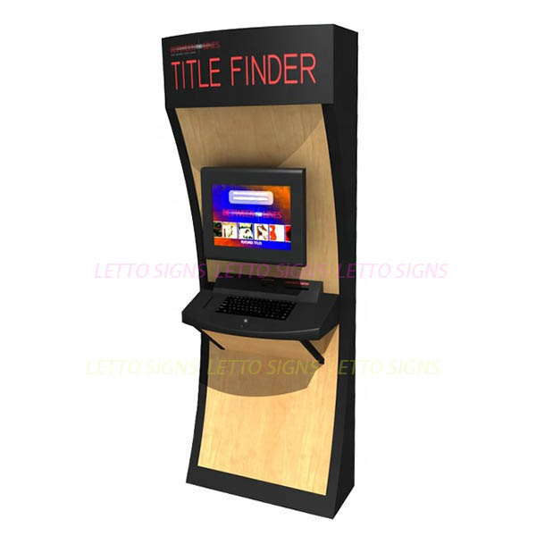 Great price Custom designs MDF wooden display with lcd screen